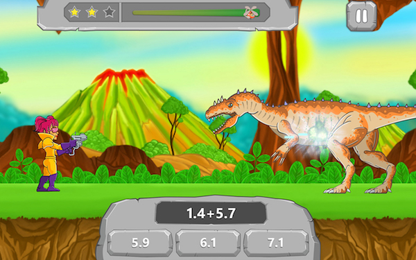 Math games with dinosaurs