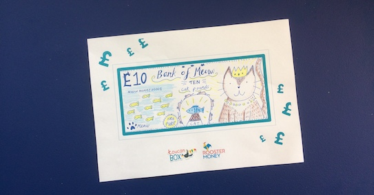 Kids money activities - Design your own bank note from RoosterMoney