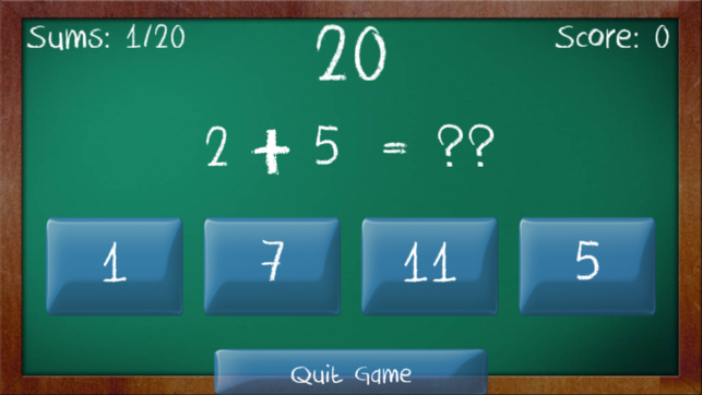 Simple Sums Free App game - Maths Game for Children