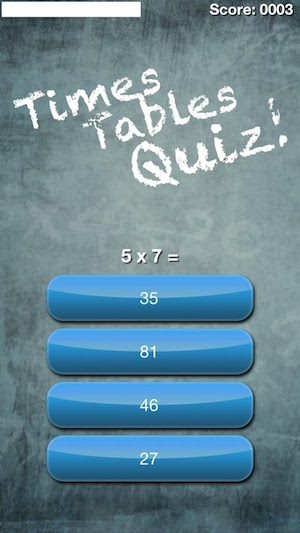 Times tables quiz! (Multiplication trainer) math game