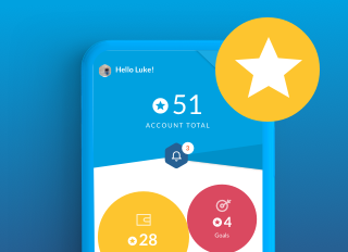Thumbs Star from Roostermoney app